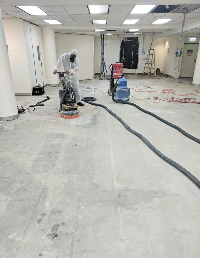 Asbestos Removal Melbourne Licensed Asbestos Removalist - Removal of asbestos tiles from concrete floor